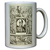 Papst Virgilio Karikatur Vater Oberhaupt Jesus Christen Religion Katholisch Kirche Vatikan Gemälde Portrait Bild - Tasse Kaffee Becher #10754
