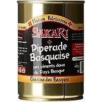 SAKARI Piperade Basquaise aux Piments Doux du Pays Basque 400 g -