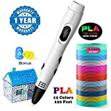 3D Printing Pen, Parner 3D Doodler Pen with LCD Screen, Safe and Easy