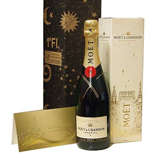 Moet & Chandon 0,75l Geschenkset für Weihnachten und Silvester