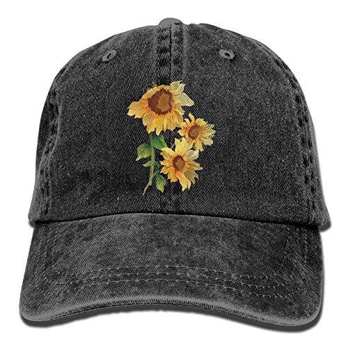 Osmykqe New Baseball Cap Sunflower Denim Cotton Strap for Men Women Students Outdoors Hats GH986 (Cccp Hat)