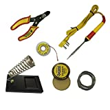#4: Generic 6 in1 Electric Soldering Iron Stand Tool Wire Stripper Kit 25 Watt Welding Stick Set