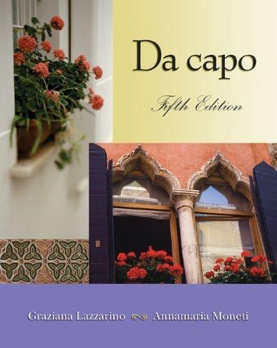 Da capo (with Audio CD) 5th edition by Lazzarino, Graziana, Moneti, Annamaria (2002) Paperback