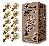 10x greenandco® Ampoule à Filament LED Vintage E27 3W (équivalent 16W) 150lm 2000K (blanc chaud) 360° 230V Verre, aucun scintillement, non-gradable