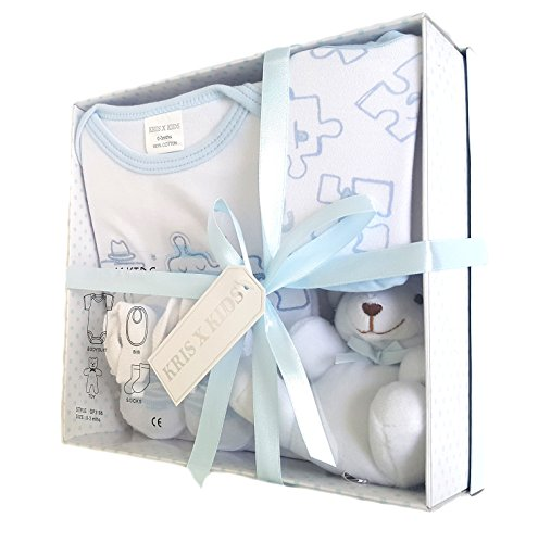 5471d4dfafea4 Newborn Baby 4 pcs Gift Set 0 – 3 Months. Available in Blue or Pink or  Lemon or White