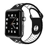 Lemumu Bluetooth Smart Watch Uhr DM 09 PLUS Herzfrequenz Smartwatch HD-Bildschirm Sync Notifier Support-SIM-Karte für das Iphone für Android Telefon, Schwarz