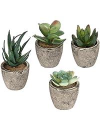 Modern in Plastica fiore pianta vaso decorativo in rame Fioriera Indoor con piattino