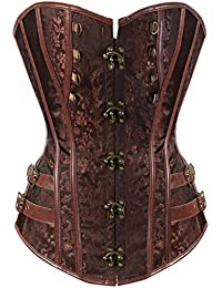 Kranchungel Women Steampunk Corset Top Waist Training Bustier Body Shaper Corsetto Bustino