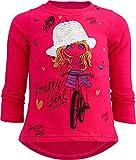 Pretty Girl Mädchen Kinder Sweatshirt Pullover Wende Pailletten Bluse Langshirt Pulli (116-122, Motiv 2 Pink)