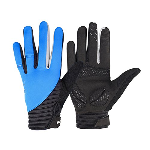 WOTOW Winter Radfahren Handschuhe, winddichte Smart Phone Touch Screen Schock Proof EVA Pad Non Slip Silikon Handschuhe mit Klettverschluss...