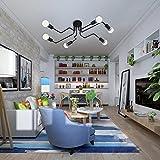 Lingkai Vicino alla luce del soffitto in lampada a sospensione in stile industriale con otto luce per decorazione E26 / E27