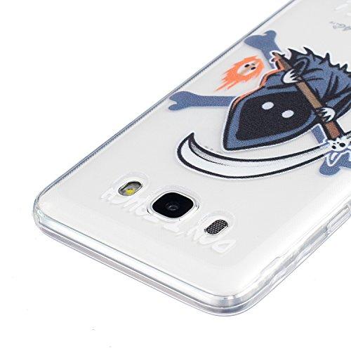 Sunroyal® Custodia per Samsung Galaxy J5 (2016 Version) J510 Protettiva Cover Universale di Ultra Sottile TPU Morbido Antigraffio Trasparente Cristallo Chiaro e Shock-Absorption Bumper Case Posteriore Pattern 15