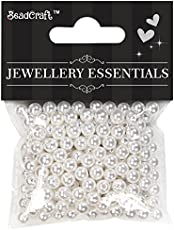 Itsy Bitsy Plastic Pearl Beads, 6mm, Pack of 2