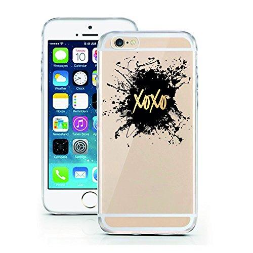 licaso iPhone 5 Hülle Apple iPhone 5 & 5S aus TPU Silikon XOXO Kiss Küsschen Gossip Girl Fashion Style Designer Ultra-dünn schützt & ist stylisch Schutzhülle (iPhone 5 5S SE, XOXO) (Iphone 5 Case Fashion Girl)