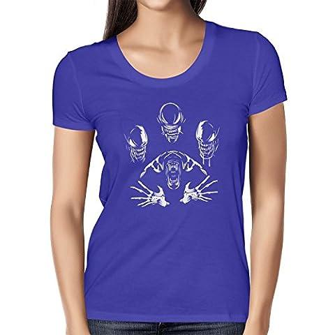 TEXLAB - The Extraterrestrial Queen - Damen T-Shirt, Größe L, marine