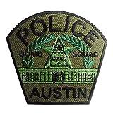 Aufnäher/Bügelbild - Police Austin Polizei Logo - grün - 8,2x7,4cm - by catch-the-patch® Patch Aufbügler Applikationen zum aufbügeln Applikation Patches Flicken
