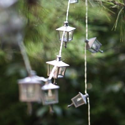 Songmics Solar Lichterkette Streifen Strip mit 24 LEDs Laternen Leuchten Gartenlampe FSL602