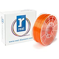 Real Filament 8719345000744 Real PETG, Spool of 1 kg, 1.75 mm, Transparent Orange - ukpricecomparsion.eu