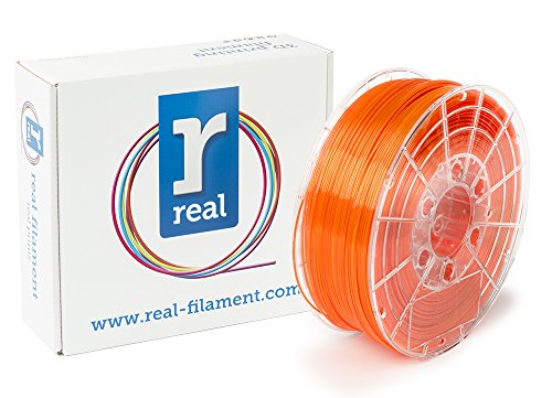 Price comparison product image Real Filament 8719345000744 Real PETG,  Spool of 1 kg,  1.75 mm,  Transparent Orange