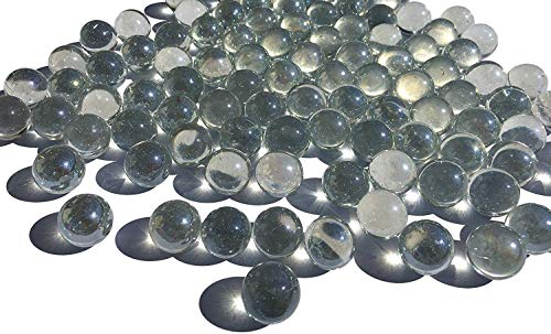 CRYSTAL KING Durchsichtige Glasmurmeln Glaskugeln 16mm Durchmesser 500gr Dekokugeln Transparente klare Murmel Glaskugeln Dekoglaskugeln Dekoration Murmeln Glaskügelchen klar -