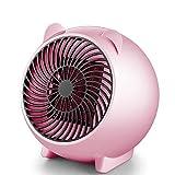 Teepao Appareil de Chauffage PTC, Appareil de Chauffage Personnel Mini Thermostat Protection Contre la Coupure Automatique, Appareil de Chauffage en céramique 250w Rose
