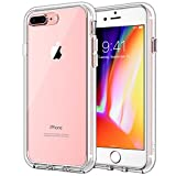 JETech Cover Compatibile iPhone 8 Plus e iPhone 7 Plus, Custodia con Paraurti Assorbimento degli Urti e Anti-Graffio, Trasparente