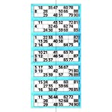 Jumbo Bingo Single Ticket, da 6 a Vista Pad, Blue