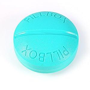 Tragbare Halterung rund Container Medizin Box Pille Fall Organizer