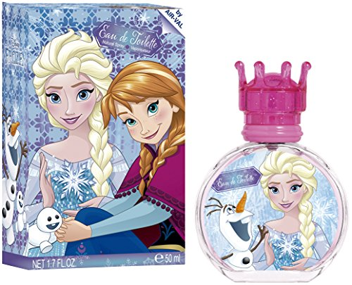 AIR-VAL Disney Frozen Eau de Toilette 50 ml in Glasflakon mit Verschluss in Krönchenform, 1er Pack (1 x 1 Stück) (Anna Frozen Makeup)
