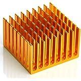 """Generic 2pcs Disipador De Calor De Aluminio, 1,48""""x 1.44X 0,93, heat-sink."""