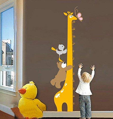 Diadia Toise pour Enfants Croissance Chouette Enfants Toise Sticker Mural Home Decor Dessin anim/é Animal Hauteur R/ègle