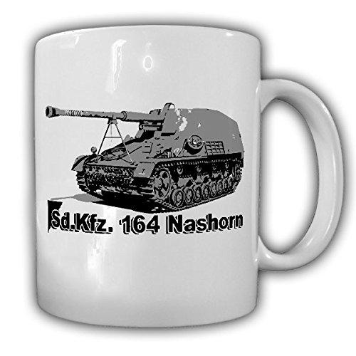 SdKfz 164 Nashorn Panzer Wh Panzerjäger Panzerabwehrgeschütz Selbstfahrlafette Jagdpanzer Hornisse Panzerabwehr - Tasse Kaffee Becher #17078