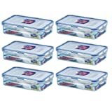 6 X Lock & Lock 800ml Food Container Rectangle Container Lunch Box HPL816