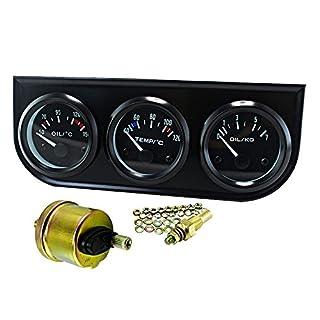 52mm Triple Kit Öltemperatur Wassertemperatur temperatur Öldruck Sensor Träger Auto Meter Auto-Spur