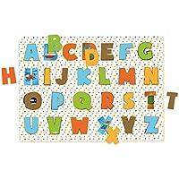 Vilac Vilac2733 40 x 29 x 1 cm Alphabet Peg Puzzle by Melusine (26-Piece)