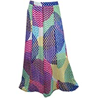 Mogul Interior Women's Flirty Long Skirt Chiffon Colorful Maxi Boho Fashion Long Skirt