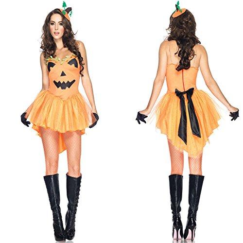 inzessin Kleid Weihnachten Kleid maskeradekostüm Stadiumsleistungskleidung (Kürbis Prinzessin Kostüme)