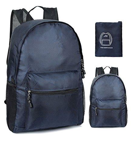 ZYPMM Die Hauptdruckfeder 2017 Modelle Umhängetasche faltbare Reisetasche ultraleichte Haut paket Navy blue