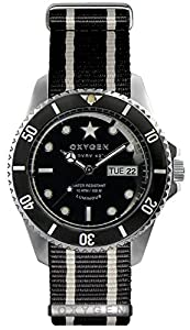 OXYGEN EX-DV-CIG-42-NN-BLIVBL - Reloj de pulsera unisex, nailon, color negro de OXYGEN