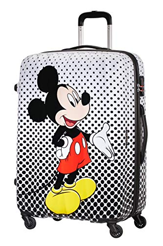 American Tourister Disney Legends - Spinner Large Alfatwist Bagaglio a mano, 75 cm, 88 liters, Multicolore (Mickey Mouse Polka Dot)