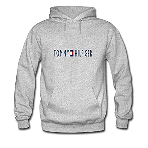 Tommy Hilfiger Classic Logo Tops For Mens Printed Pullover Hoodies