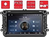 M.I.C. AV8V5-lite Android 9 Autoradio Radio Navigationssystem:DAB+ digitalradio Bluetooth 5.0 WLAN 8 Zoll IPS Bildschirm 2G+32G USB sd GPS Tuning für VW Skoda SEAT Polo Golf Passat touran t5 Octavia
