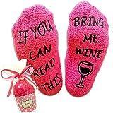 """Luxuriöse Wein-Socken mit Muffin-Geschenk-Verpackung Muttertag Geschenke für sie mit der """"If You can Read This Bring me Wine"""" - Lustiges Wein-Zubehör für Frauen -Geschenk für Hauseinweihung"""
