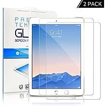 [2-Unidades] Protector de Pantalla iPad 9.7 2017/ iPad Pro 9.7 / ipad Air 2,, ONSON® Cristal Vidrio Templado Premium Para Apple ipad 9.7'' 2017 / ipad Pro 9.7'' / iPad Air / iPad Air 2(iPad 5&6)