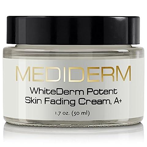 Mediderm Best Dark Spot Corrector & Natural Skin Whitening Fade Cream, A+ Lightening Blemish Removal Serum Reduces Age Spots, Freckles, Melasma & Hyperpigmentation - Get Rid Of Liver