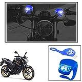 #10: Vheelocityin 2+2 Led Blue Bike Light with Flashing Mode Motorcycle LED For Yamaha Fz