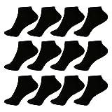 L&K 12 Paar Herren Sneaker-Socken Füßlinge 43/46 schwarz1