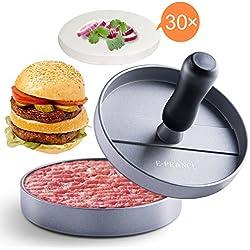 E-PRANCE Molde para hacer hamburguesas caseras, Prensa para hamburguesas, Hacedor de hamburguesas de aluminio, Molde Antiadherente, Ideal para barbacoa y comida rápida