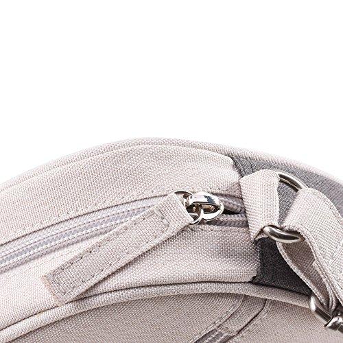 Bwiv Damen Canvas Umhängetasche Schultertasche Messenger Bag Crossbody Tasche für Outdoor C F
