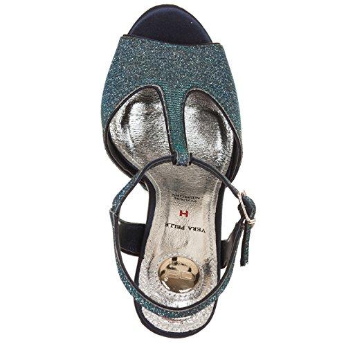 Sandali con tacco BLU Blu